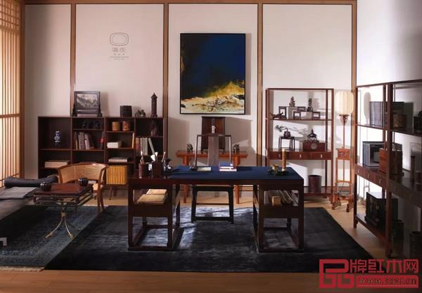 区氏家具打造的舒适型当代书房