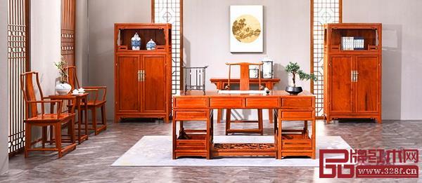 东成红木缅甸花梨明式经典大师书房系列