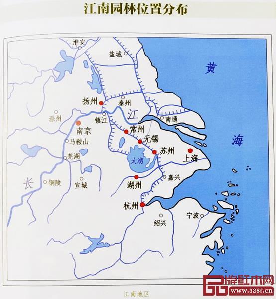 江南地区私家园林分布图