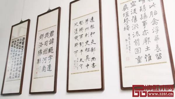 书法作品来自李瑞清(左二)、曾熙(右二)、符铁年(右一) 图片:一条公众号