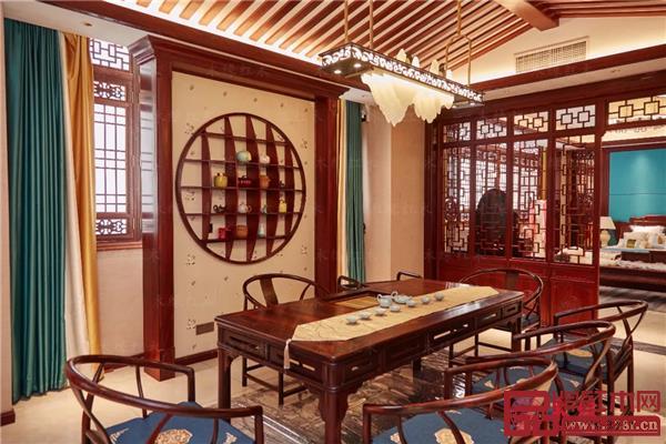 木缘红木高端私人定制样板间——茶厅空间一角