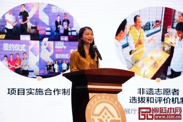 东莞市文化馆馆长、东莞市非遗保护中心主任黄晓丽