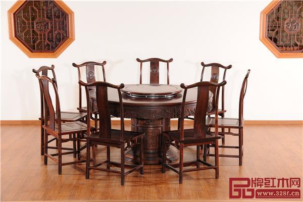 万盛宇红木:红酸枝富贵圆台