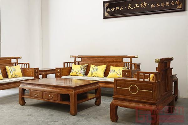 天工坊红木《初心沙发》诠释初心,传承传统工艺,做工精细
