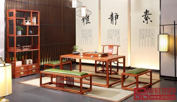 国寿红木《明轩茶台》