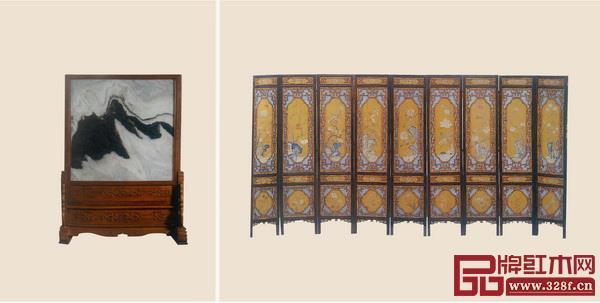 屏风是传统家具大家族中,最讲究礼仪规范的家具,是玛莉娅女士的最爱