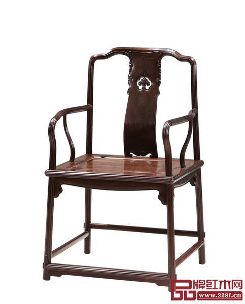 鲁班木艺《梅花线扶手椅》