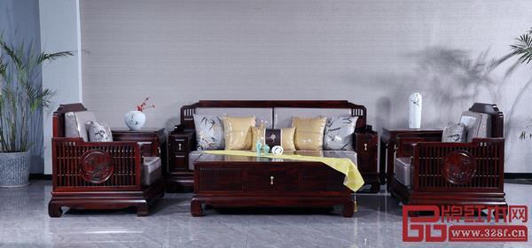 古森红木《悦谱沙发》