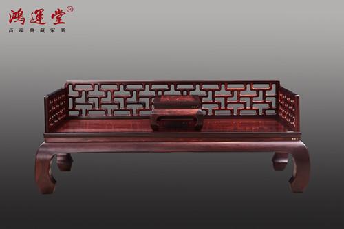 鸿运堂|大红酸枝罗汉床