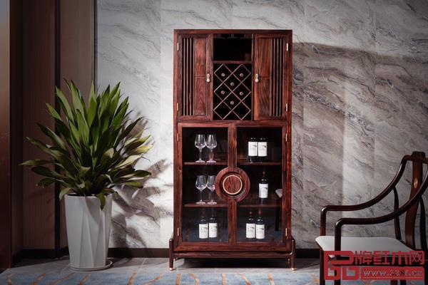 安逸红木《印象酒柜》