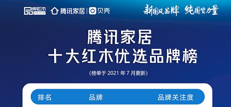 一周红木天下事:《腾讯家居红木优选品牌榜》发布|第174期