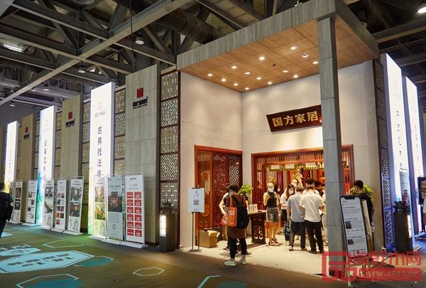"""国方家居中式原木整装在广州建博会""""出圈"""",其红木工艺令人赞叹"""