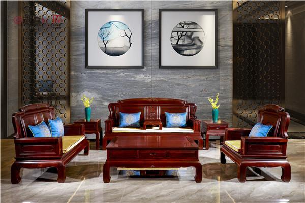 古森红木《吉祥如意沙发》:雕琢时光,拥抱有温度的家