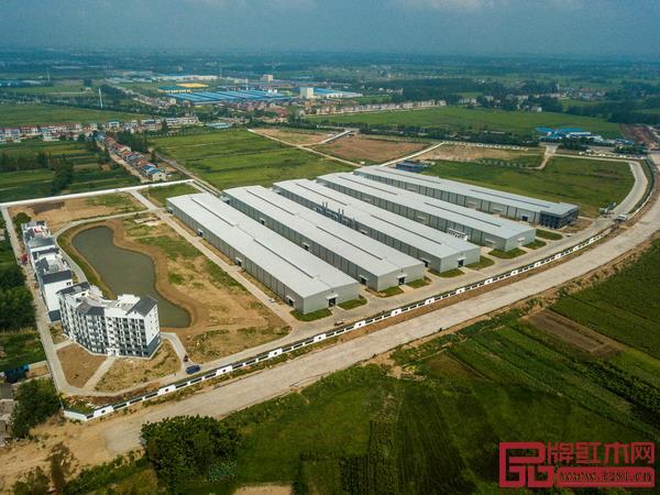 建设中的国寿红木湖北工厂俯瞰图