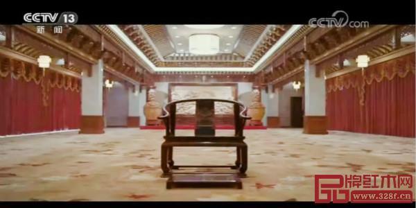 """世界木雕 东阳红木 营造中式好空间""""宣传片在中央电视台综合频道和新闻频道的《朝闻天下》栏目"""
