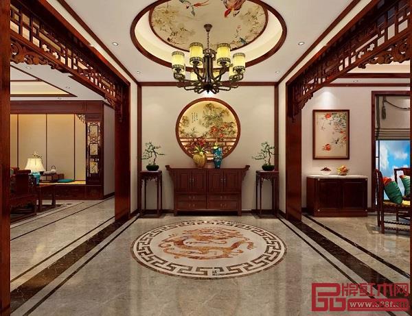 玄关中式红木装修