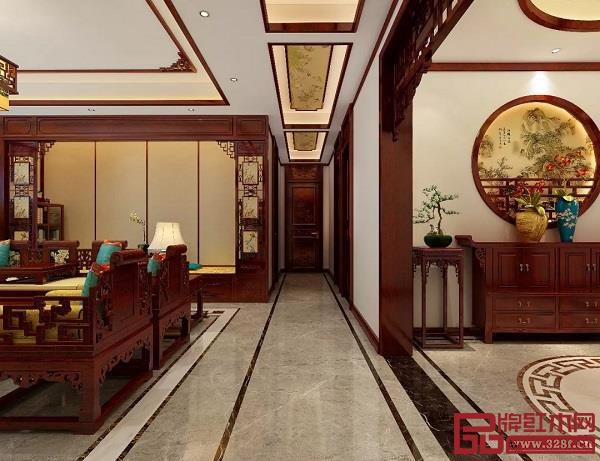 过道中式红木装修