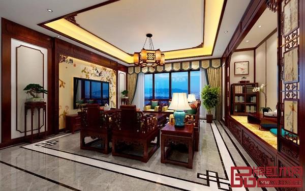 客厅中式红木装修