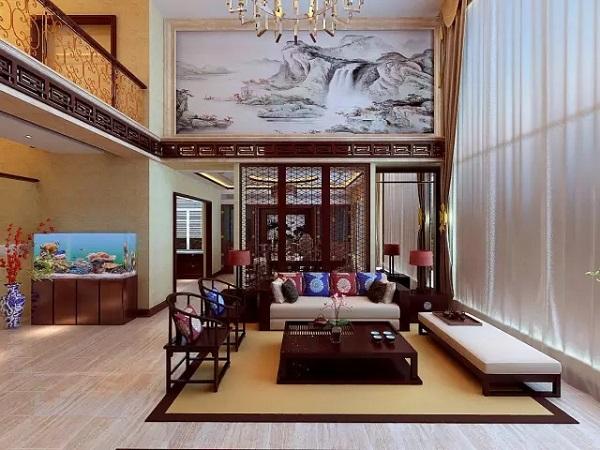 500平别墅中式装修