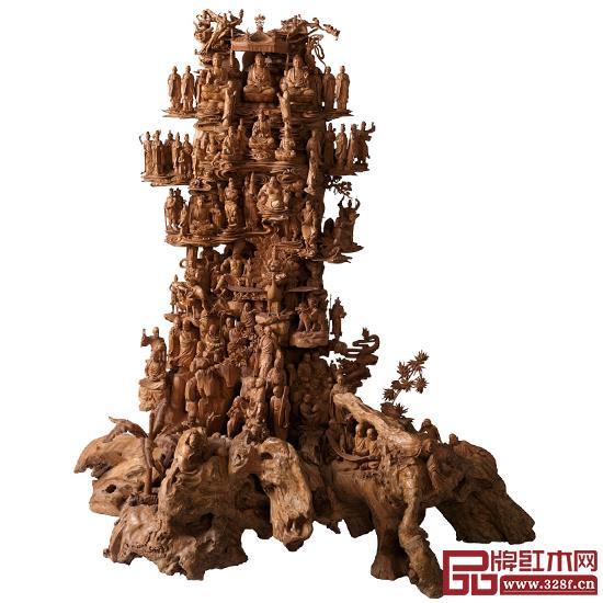 林慶財大師木雕作品——檀香木雕《萬佛梵宮》