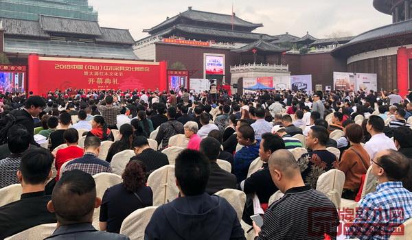 2018中山红博会开幕式现场人山人海