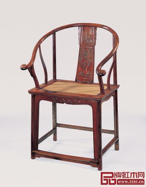 清早期黄花梨博古纹圈椅
