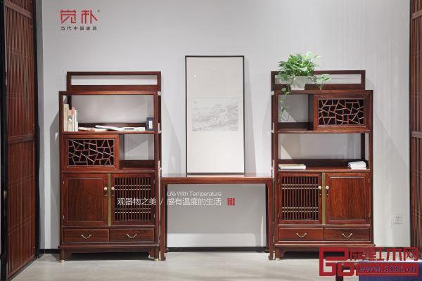 冰裂纹的使用,打造出别具一格的觉朴新中式家具