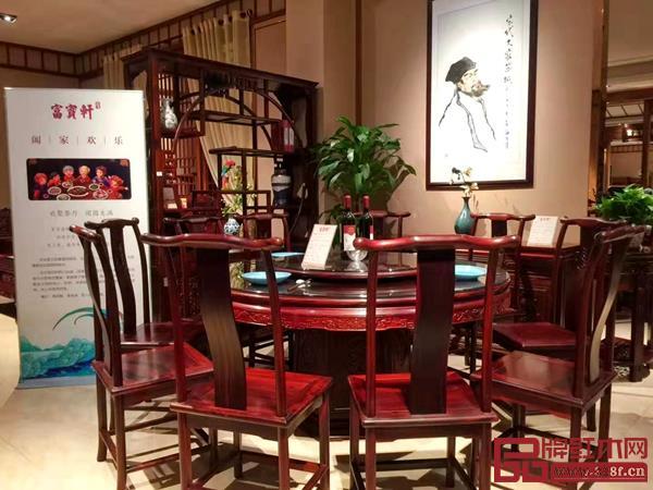 富宝轩红木展厅文化展示一角