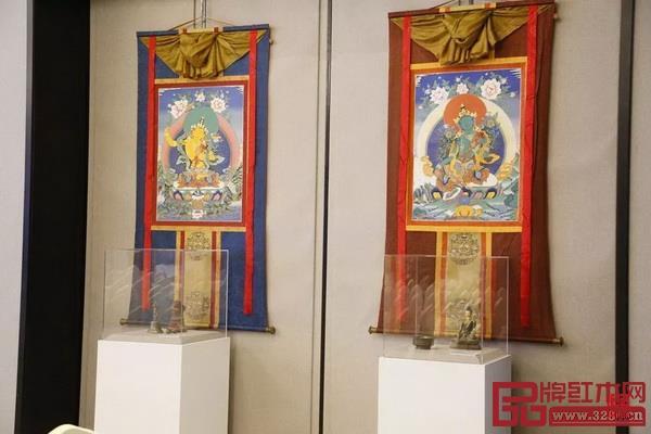 """坛城沙画艺术和""""无形妙有""""觉囊·唐卡艺术展,让民众在身边感受庙堂之中的藏传佛教文化和宗教艺术的博大精深"""