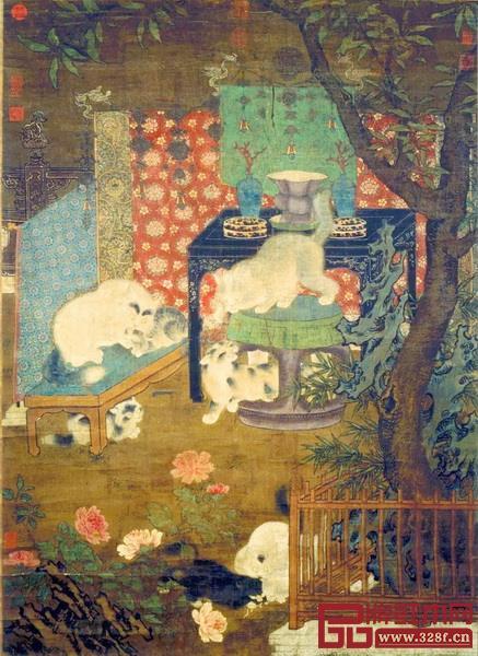 观复猫与黄花梨灯挂椅的照片颇有宋佚名《戏猫图》的意趣