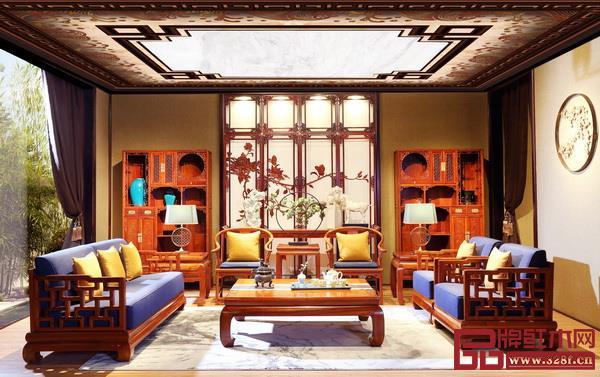 戴为红木客厅系列充分演绎了传统与时尚融合的经典之韵