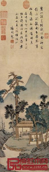 《品茶图》,文征明,明
