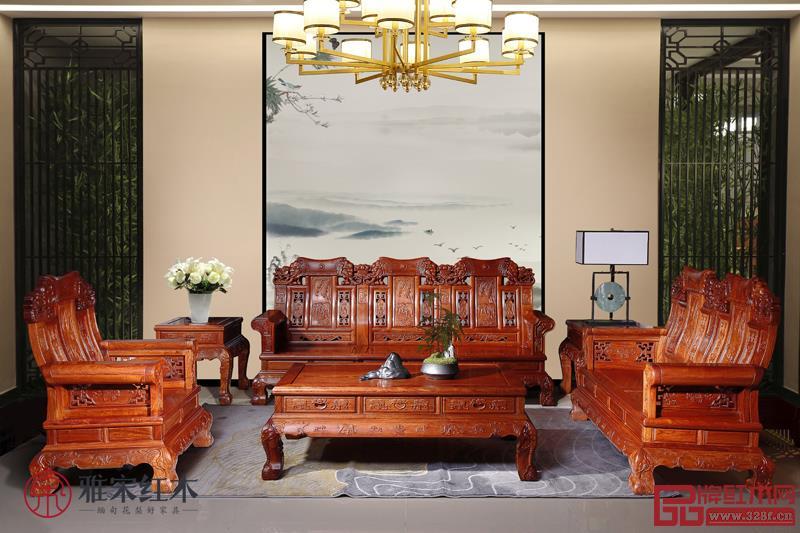 缅甸花梨现代家具图片