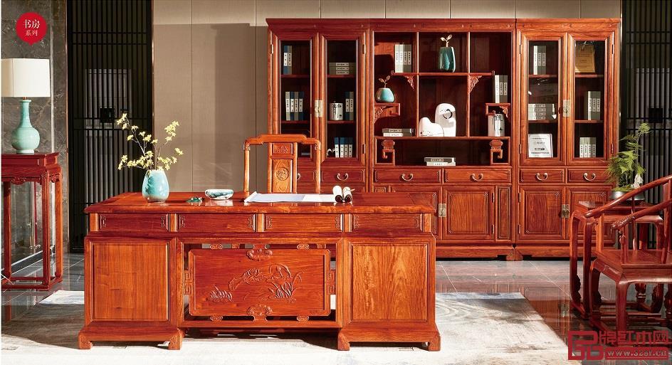 缅甸花梨书柜一对价格是多少
