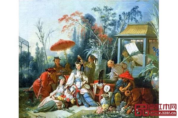 弗朗索瓦·布歇 《中国花园》