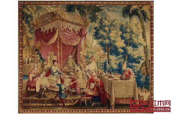 """法国""""太阳王""""路易十四曾在凡尔赛宫里舞会穿着中式服装,坐在一顶八抬大轿里出场"""