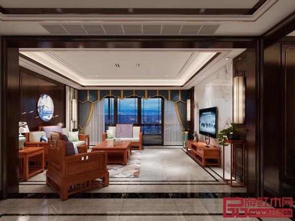 双洋红木全屋家装效果图