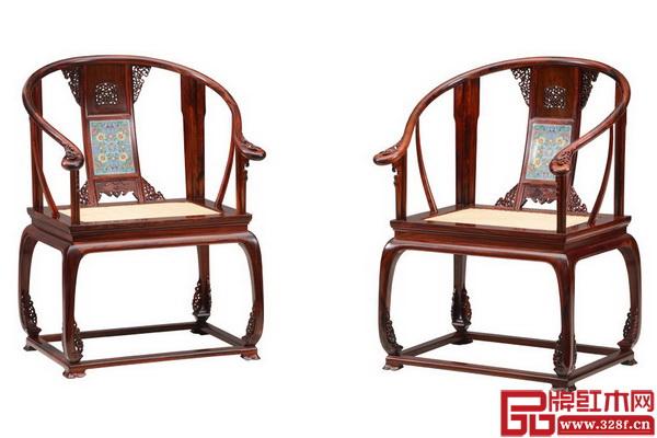 大家之家明式家具作品——鑲嵌絲琺瑯皇宮椅