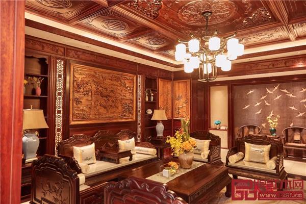 木缘红木高端私人定制样板间——客厅空间一角