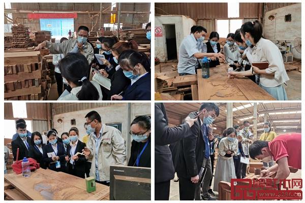 盛世周木匠新员工参观工厂学习
