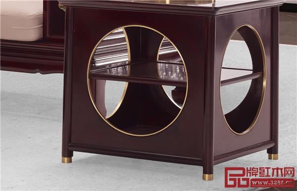 《佳境沙发》角几设计源于中式传统建筑,整体外观仿佛小型园林.jpg