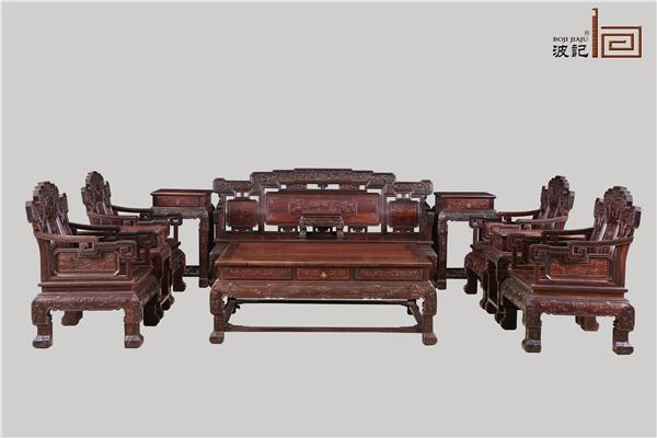 大红酸枝家装有多美?波记家具分析大红酸枝家装如何掀起中式风?