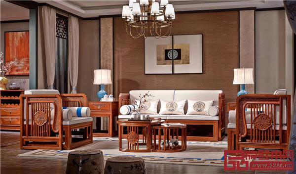 万盛宇红木:缅花系列沙发