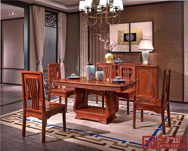 万盛宇红木:缅花系列餐桌