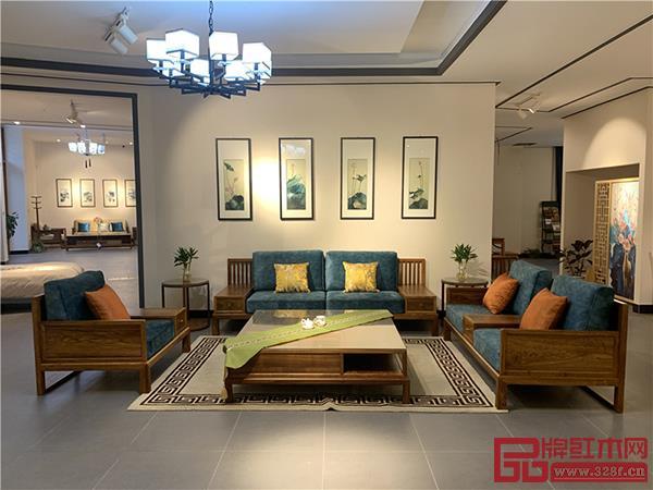 轩禾殿:刺猬紫檀中式沙发