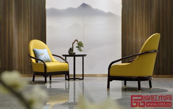 老周家居《现代中式休闲椅》