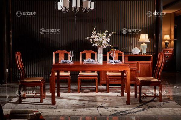从客厅到餐厅 红木家具承载一家人的团圆欢乐