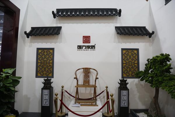 国方家居建博会展馆大气典雅,极具中国底蕴