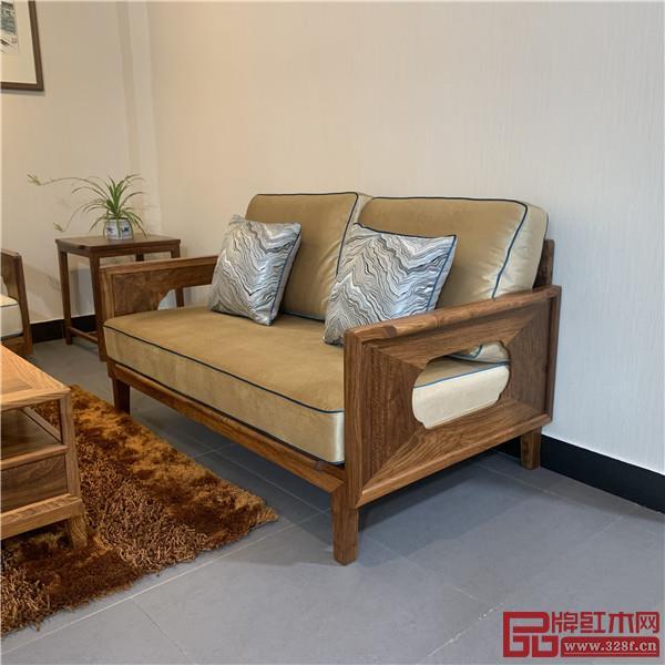 轩禾殿红木:时尚轻奢款新中式沙发2号双人位沙发