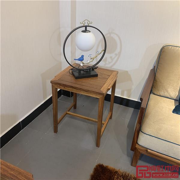 轩禾殿红木:时尚轻奢款新中式沙发2号小几